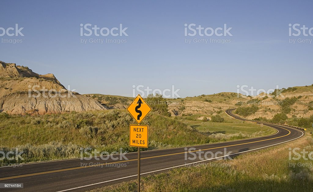 Curves next 20 miles royalty-free stock photo