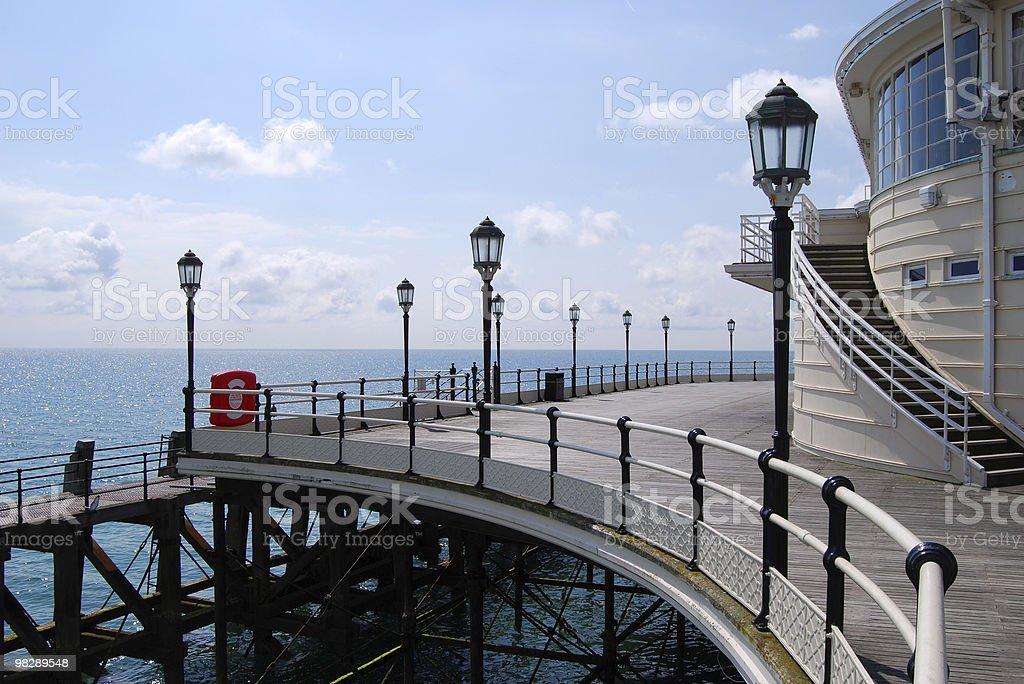 Curves on pier at Worthing. West Sussex. England royalty-free stock photo