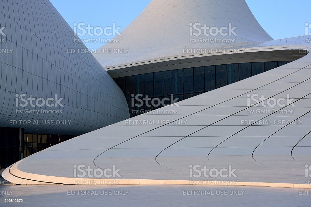 Curves on the Heydar Aliyev Cultural Centre stock photo