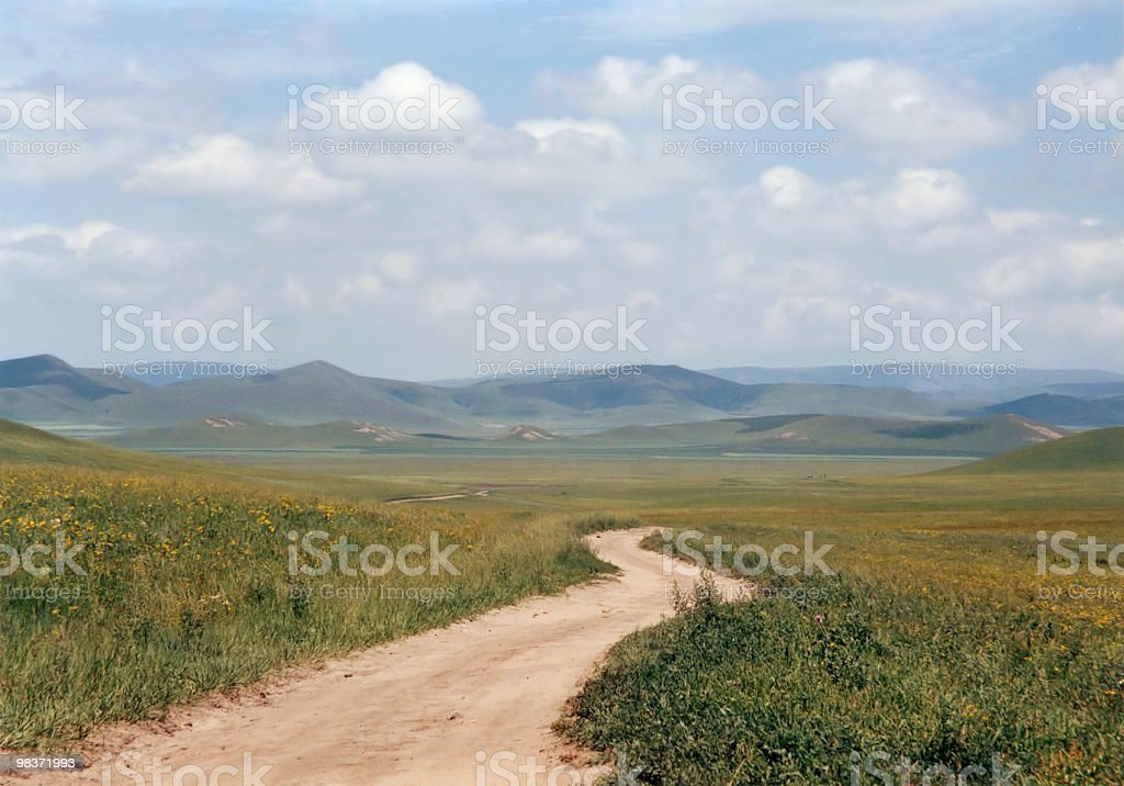 curving dirt road royalty-free stock photo