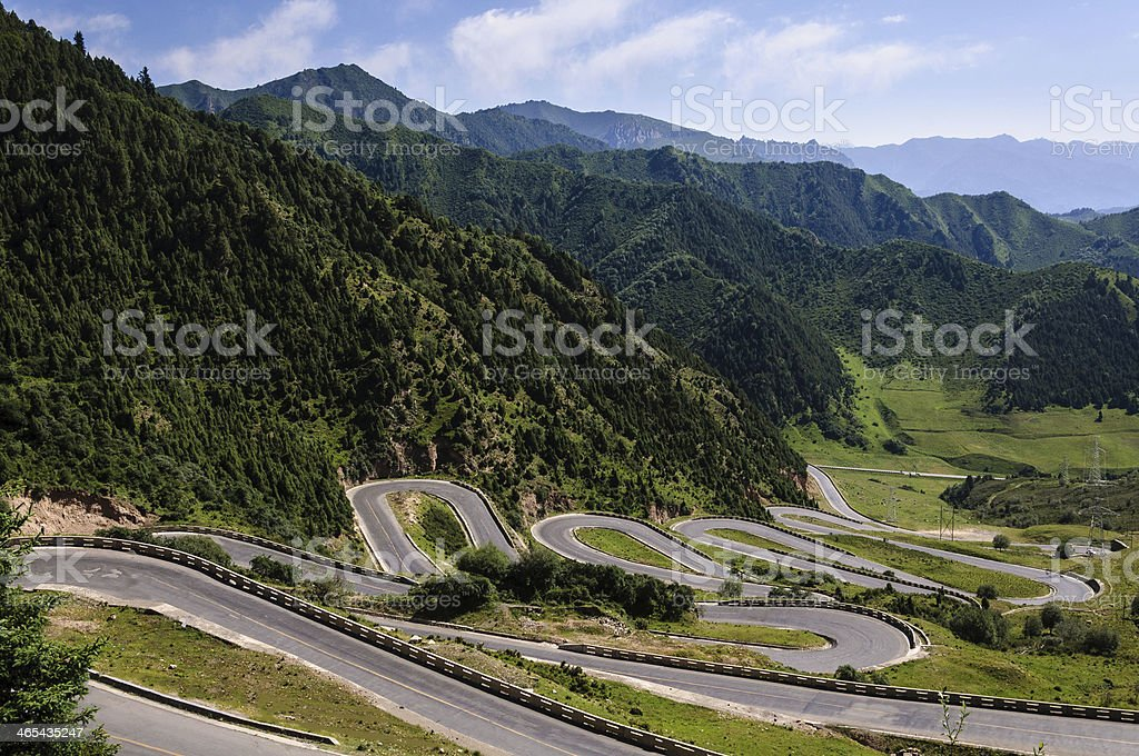 curving montanic road royalty-free stock photo