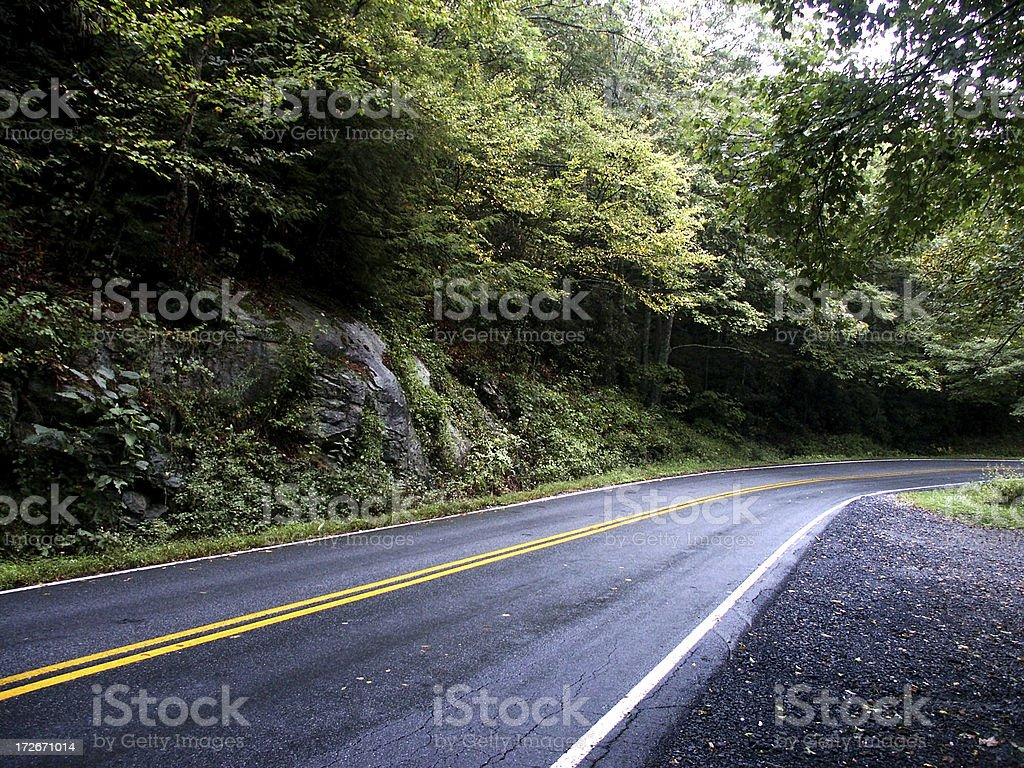 Curving Mountain Road royalty-free stock photo