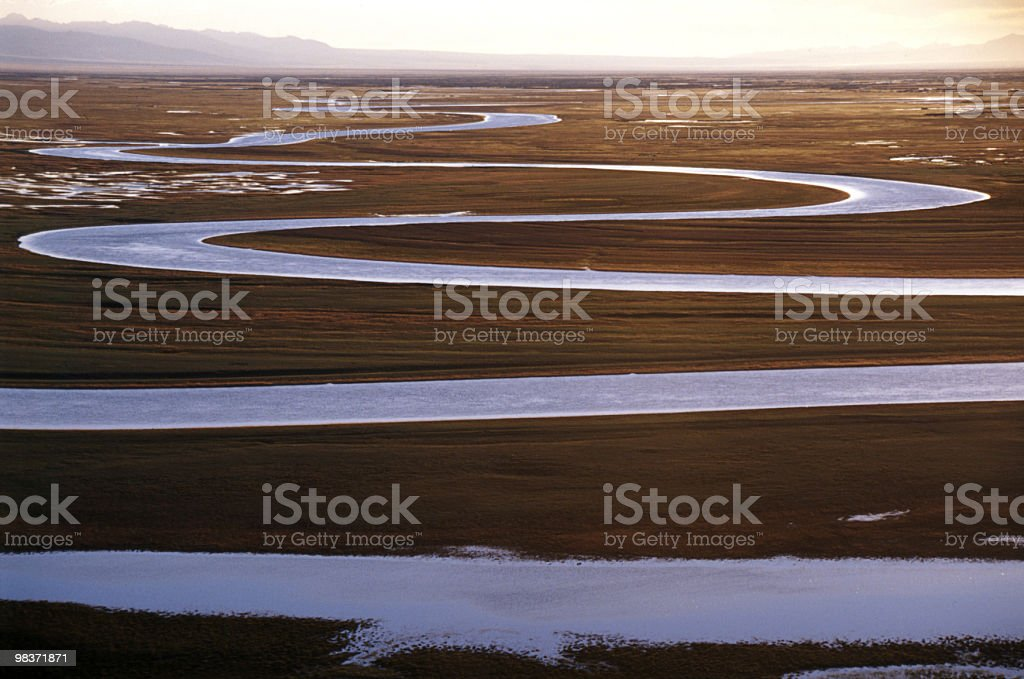 curving river royalty-free stock photo