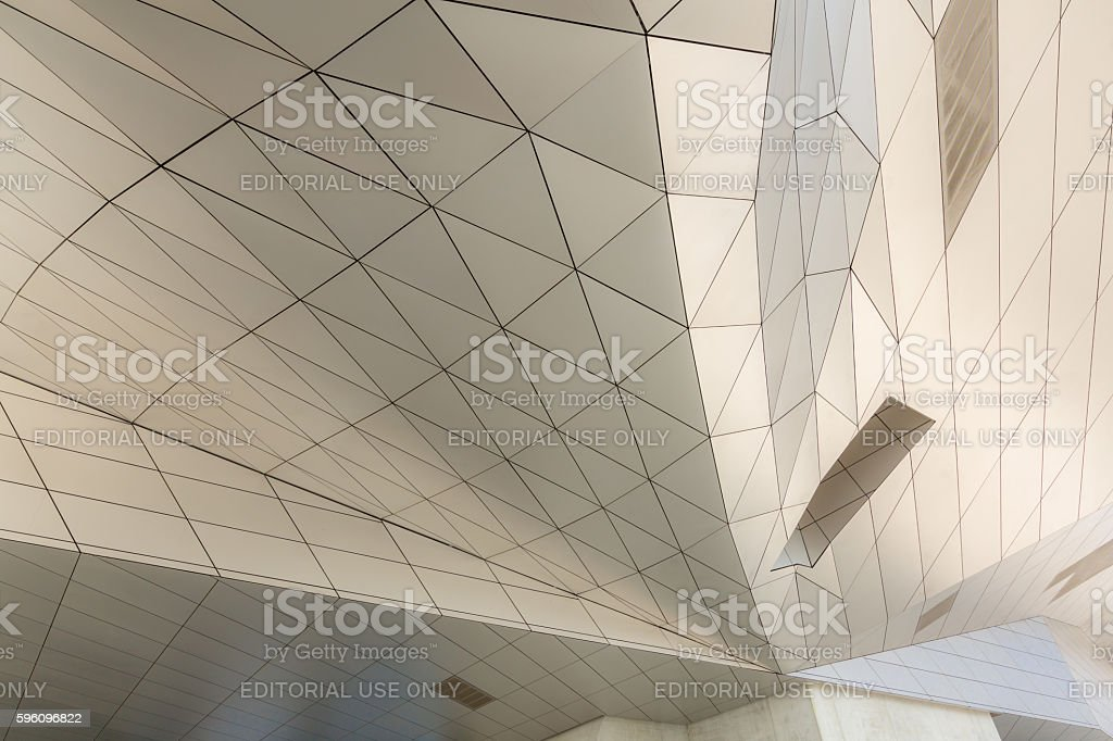 curving roof building royalty-free stock photo