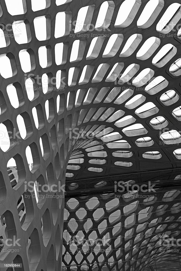 Curving roof royalty-free stock photo