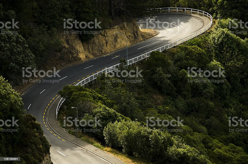 Curving Rural Road stock photo