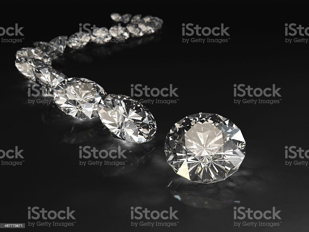 Curvy Diamond Track stock photo