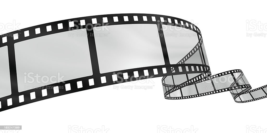 Curvy film reel stock photo