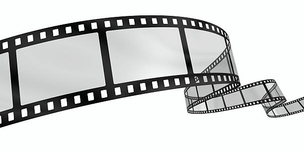 Curvy film reel A rendered curvy filmstrip on white backgroundView the complete series: camera film stock pictures, royalty-free photos & images
