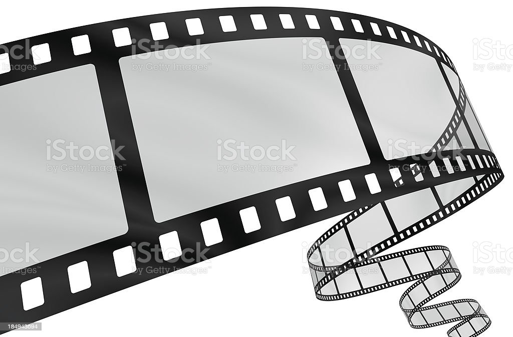 Curvy film strip stock photo