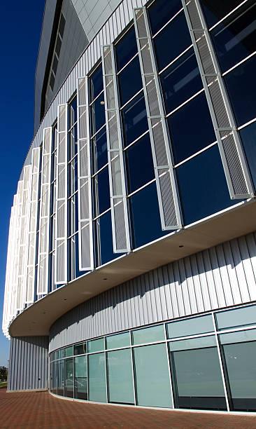 Curvy modern architecture in Wichita stock photo