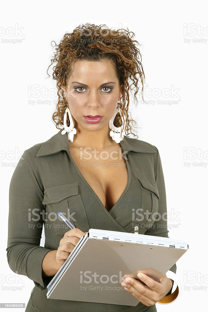 Curvy Secretary royalty-free stock photo