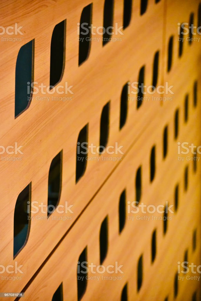 A curvy shape wooden made pattern background photo stock photo