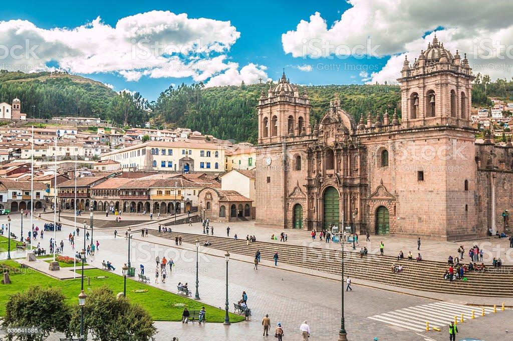 Cusco Cathedral in Peru stock photo