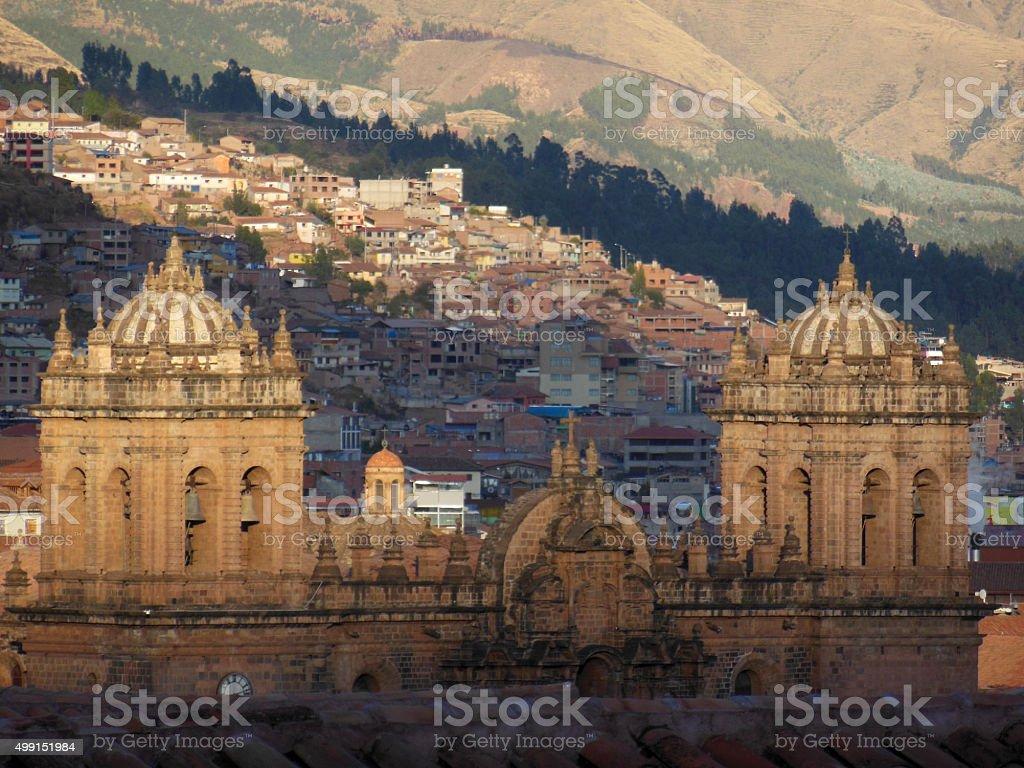 Cusco Rooftops stock photo