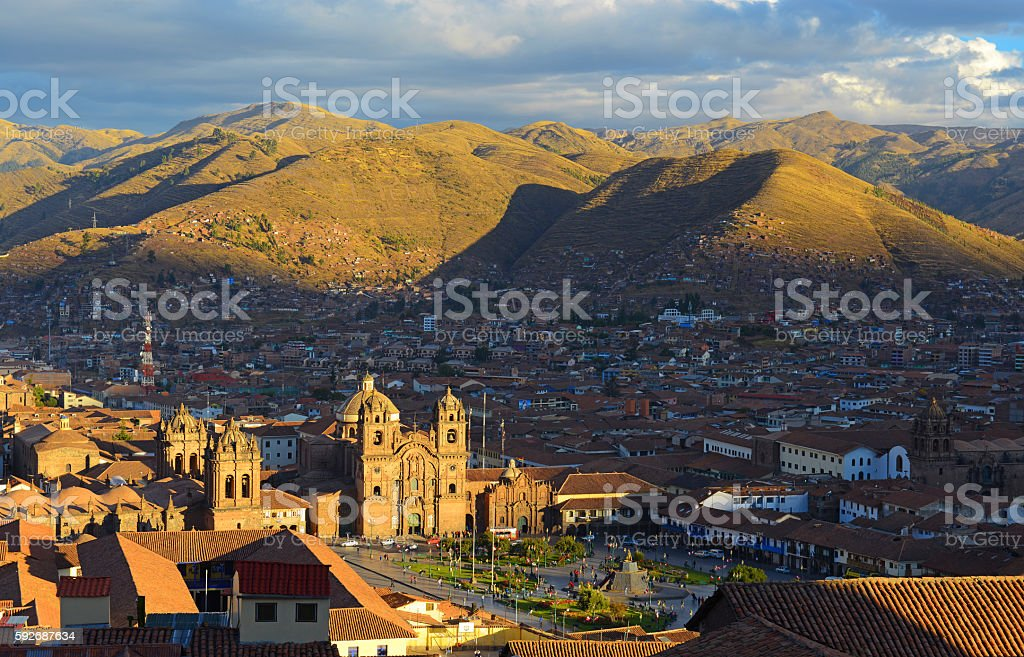 Cusco Skyline stock photo