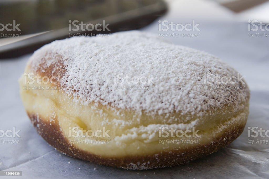 custard beignet stock photo
