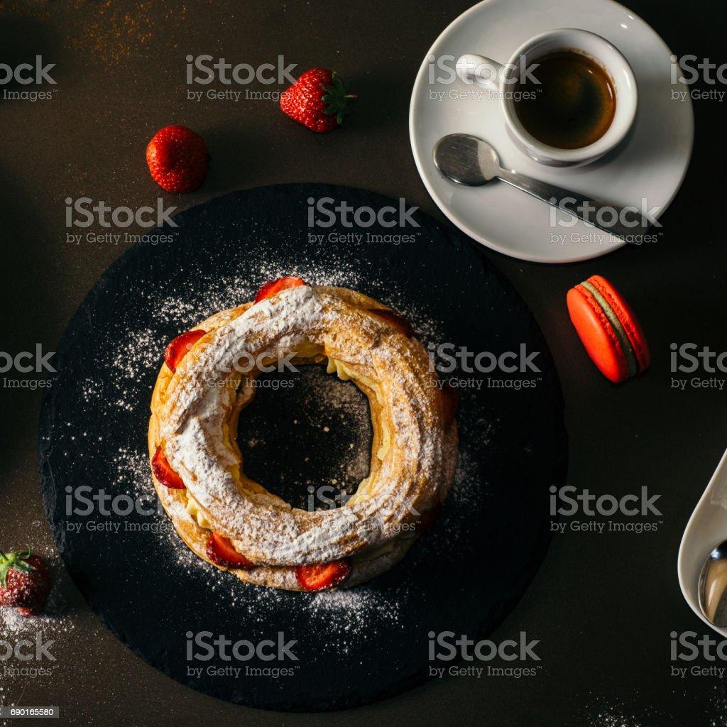 Vanillesoße Kuchen – Foto