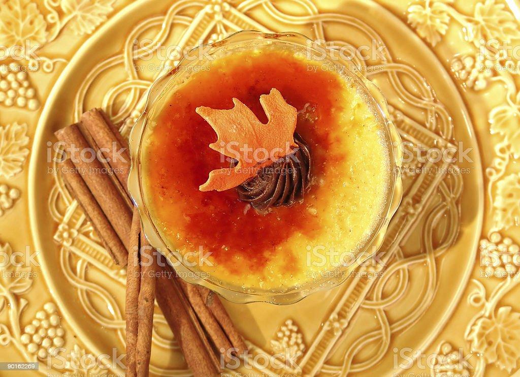 Custard on a plate royalty-free stock photo