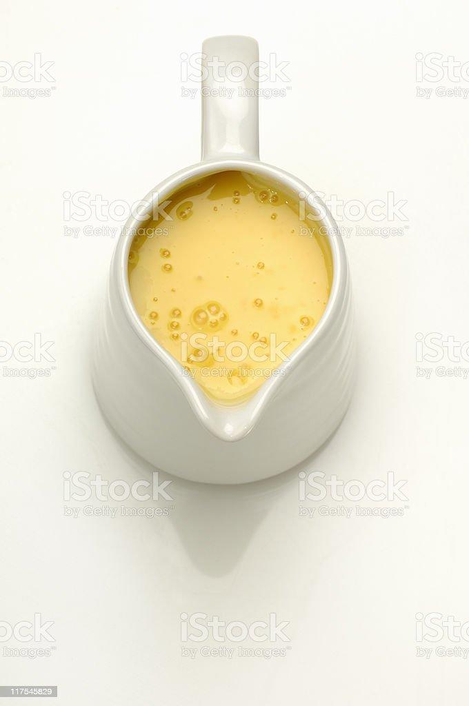 Custard stock photo