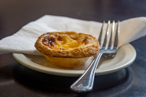 A Custard Tart on a Plate
