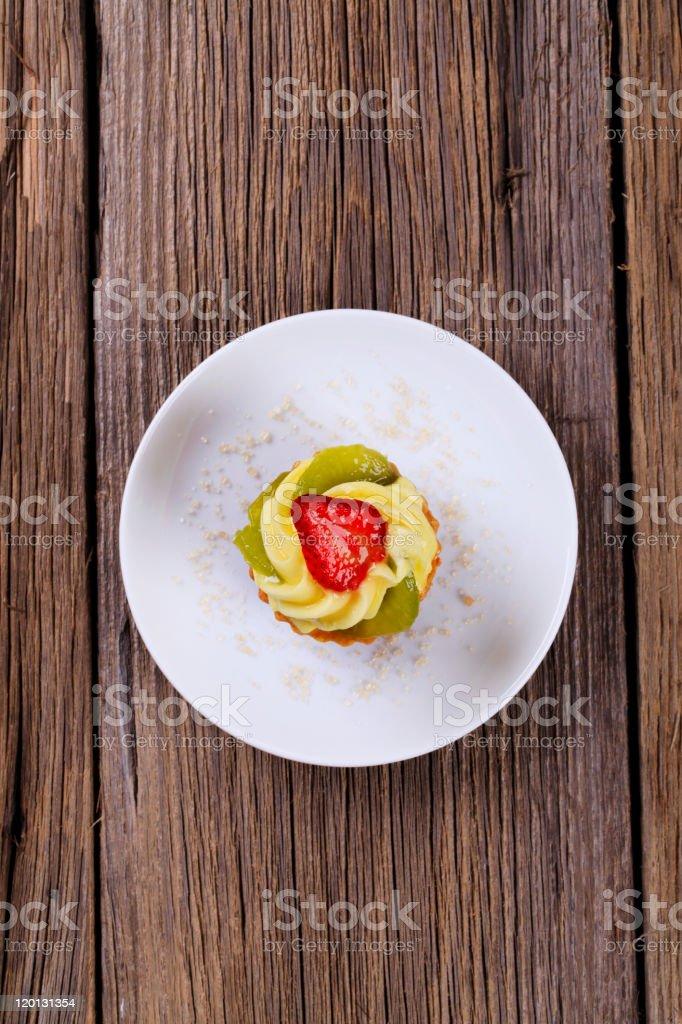 Custard tartlet royalty-free stock photo