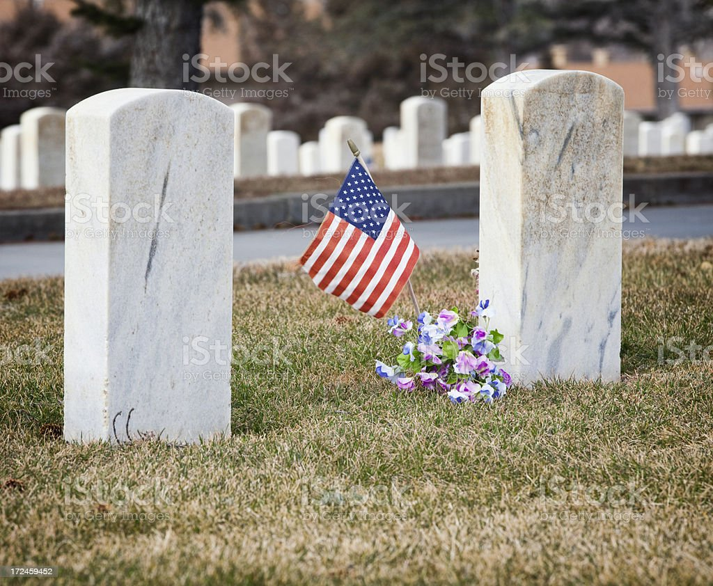 Custer National Cemetery at Little Bighorn Battlefield Monument stock photo