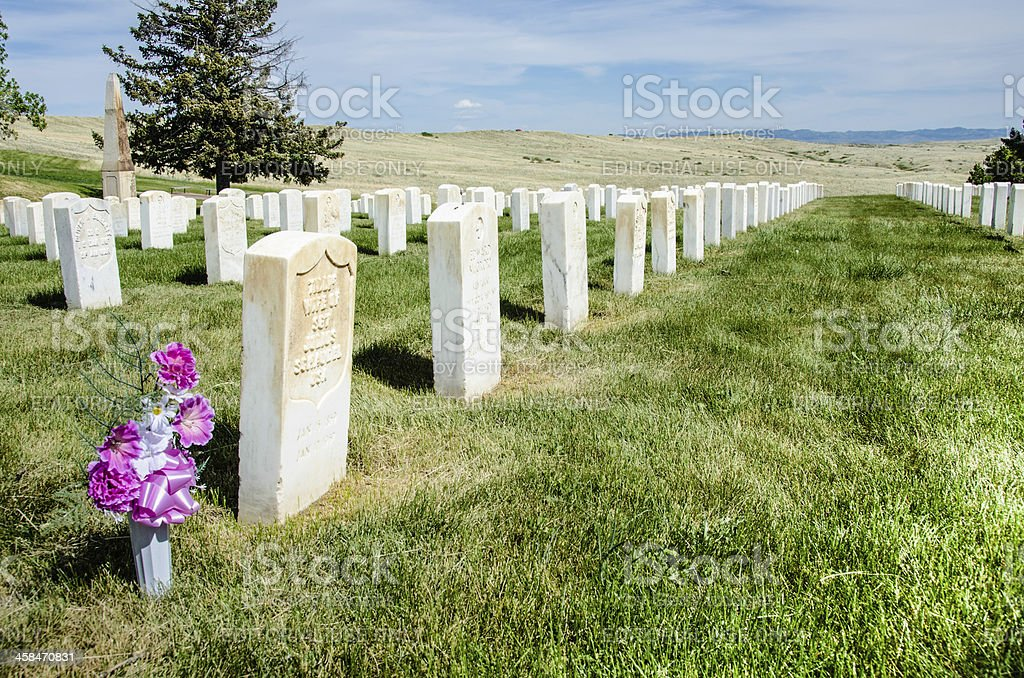 Custer National Cemetery stock photo