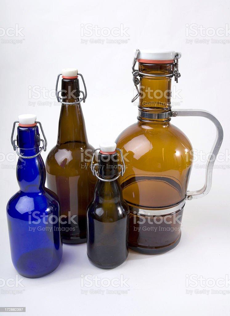 Custom Beer Bottles stock photo