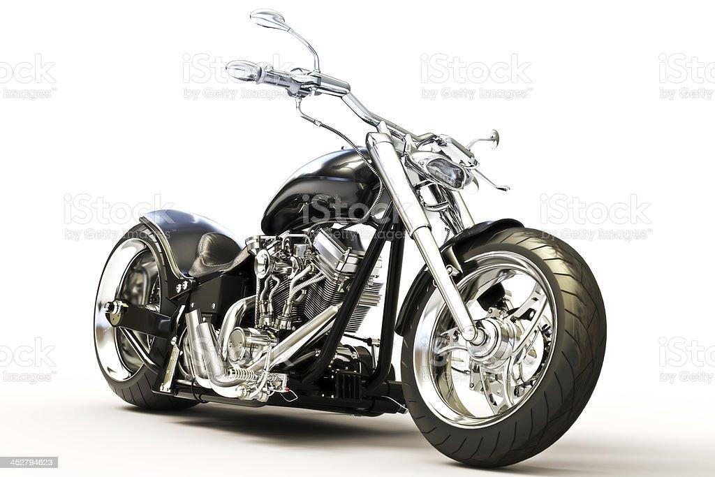 Individuelle Schwarz Motorrad – Foto