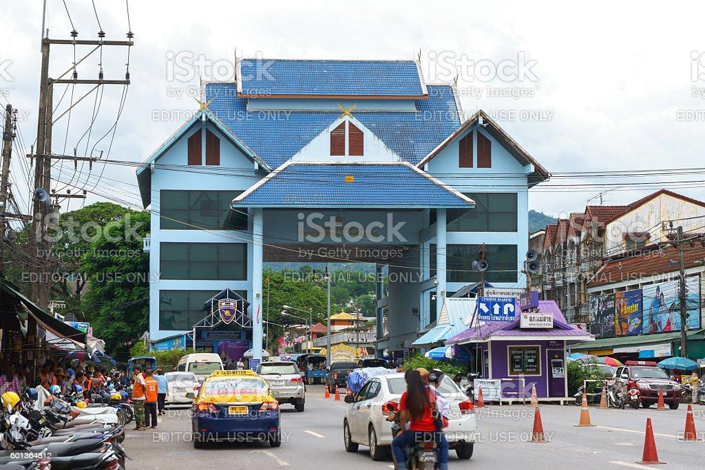 Custom building a major border at Mae Sai district stock photo