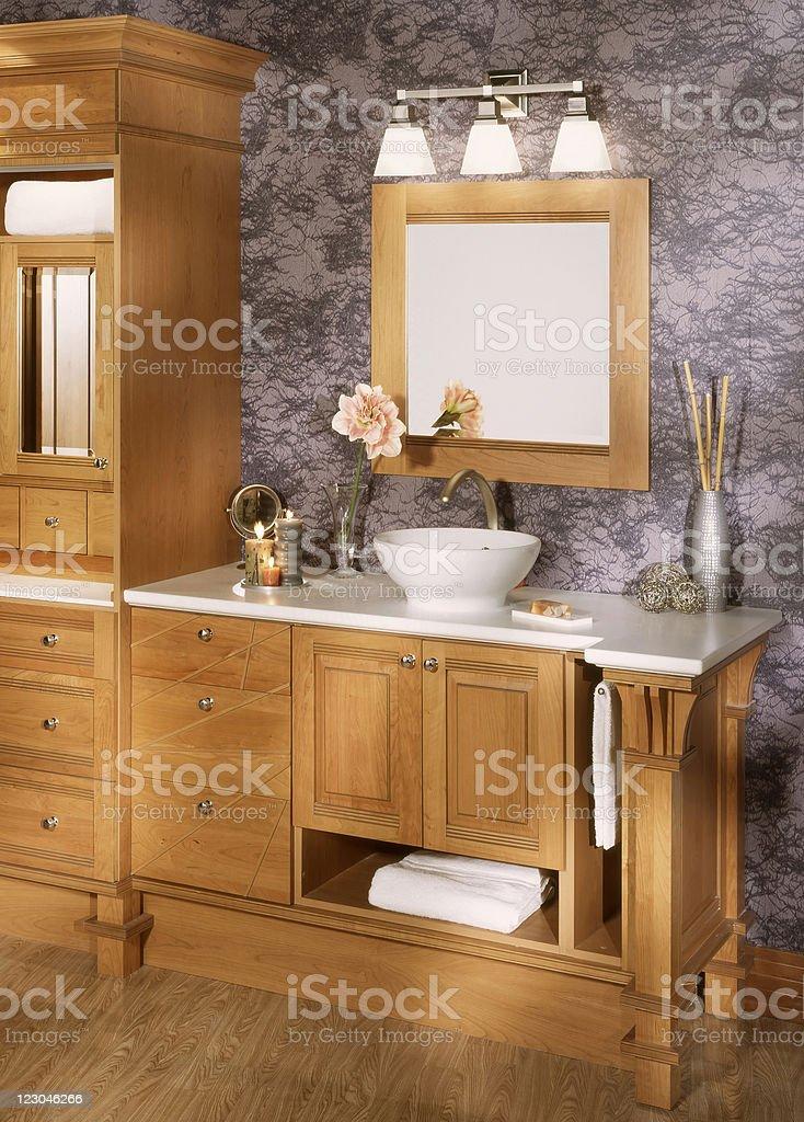 Custom built bathroom royalty-free stock photo