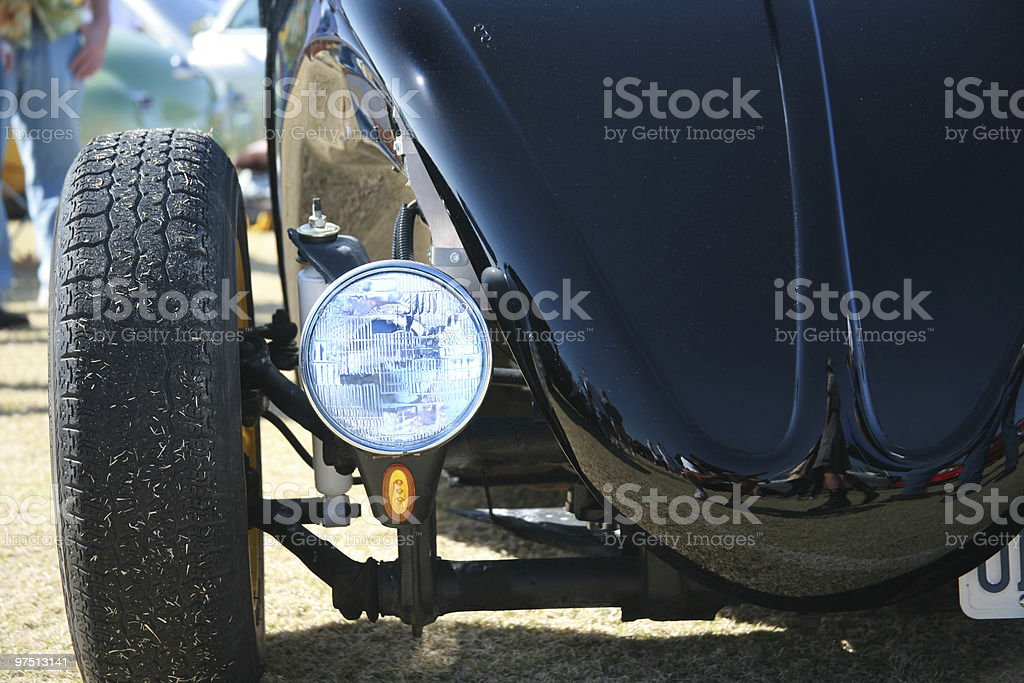 Custom Car light, hood and wheel royalty-free stock photo