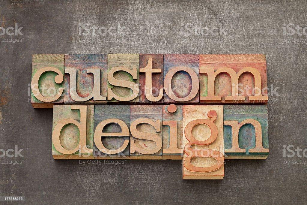 custom design in wood type royalty-free stock photo