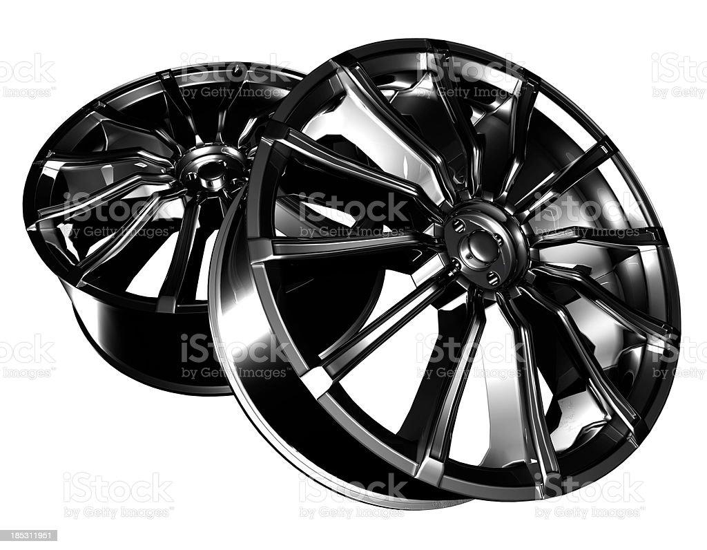 Custom designed chrome alloys. royalty-free stock photo