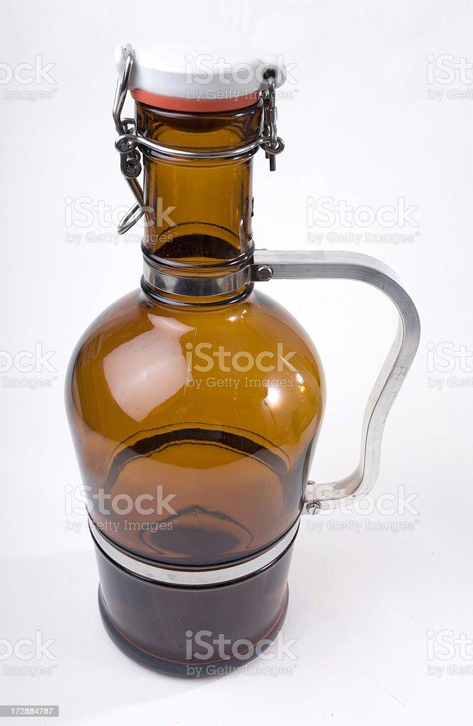 Custom Growler for Beer stock photo