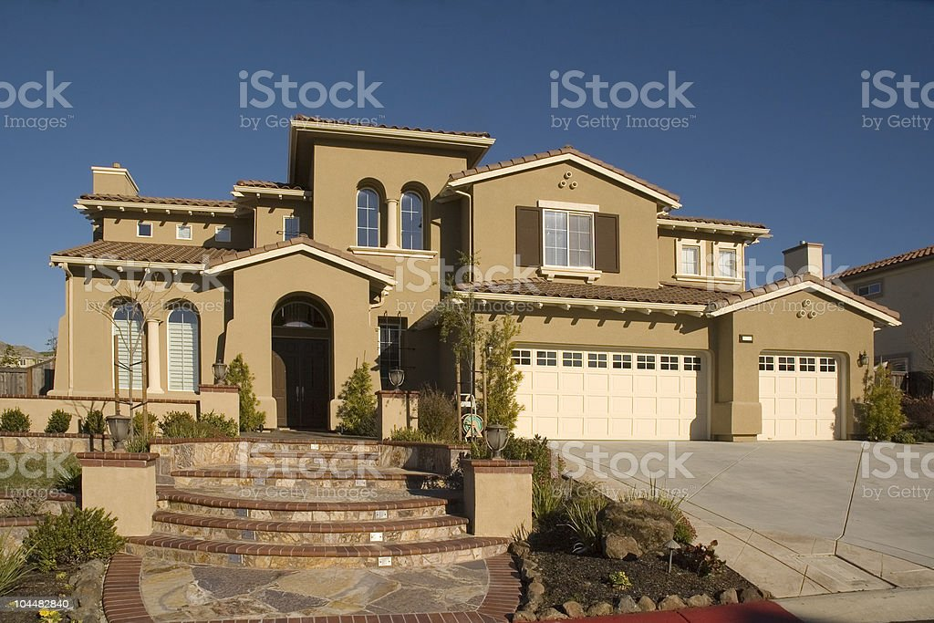 Custom home stock photo
