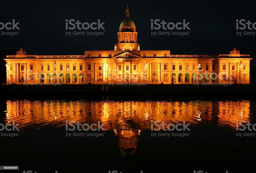 Custom House, Dublin at Night royalty-free stock photo