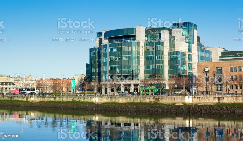 IFSC Custom House Quays in Dublin, Ireland stock photo