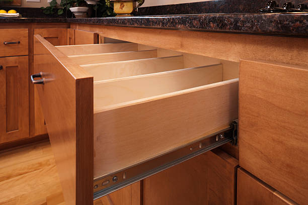 custom kitchen cabinetry and utensil drawer. - customize stock pictures, royalty-free photos & images