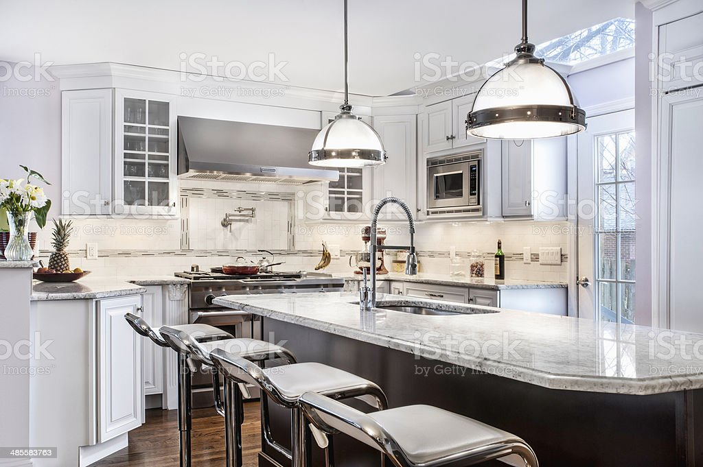 Custom Kitchen stock photo