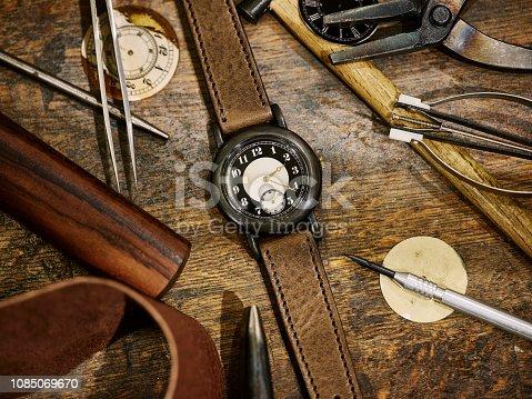 istock Custom Made Japan Watch Timepiece 1085069670