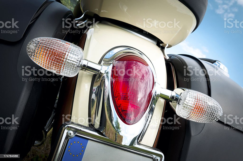 custom motorbike stock photo