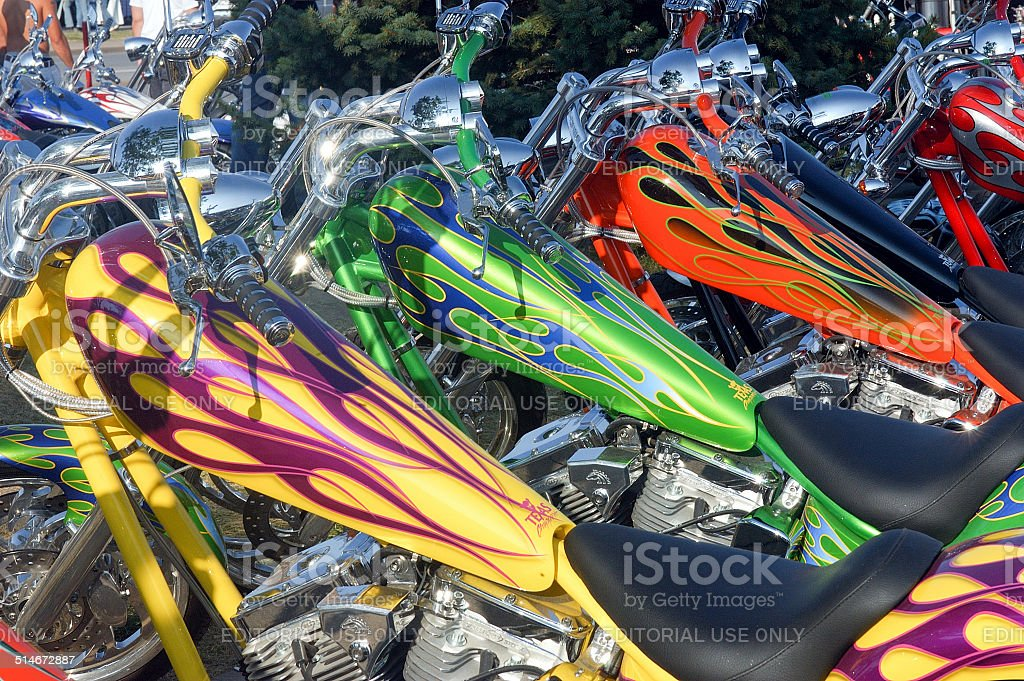 Custom painted motorcycles  rm stock photo