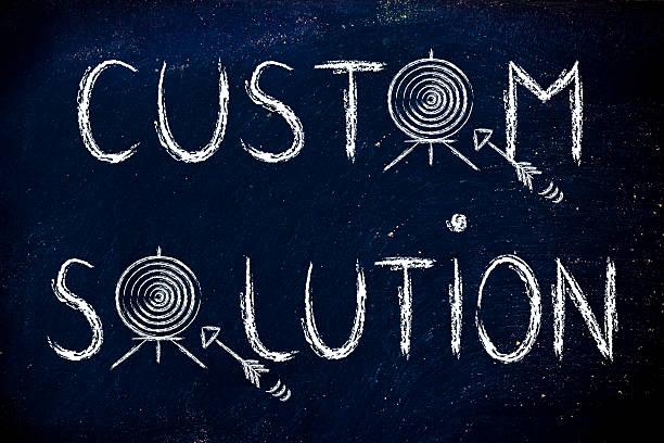 custom solutions, target illustration stock photo