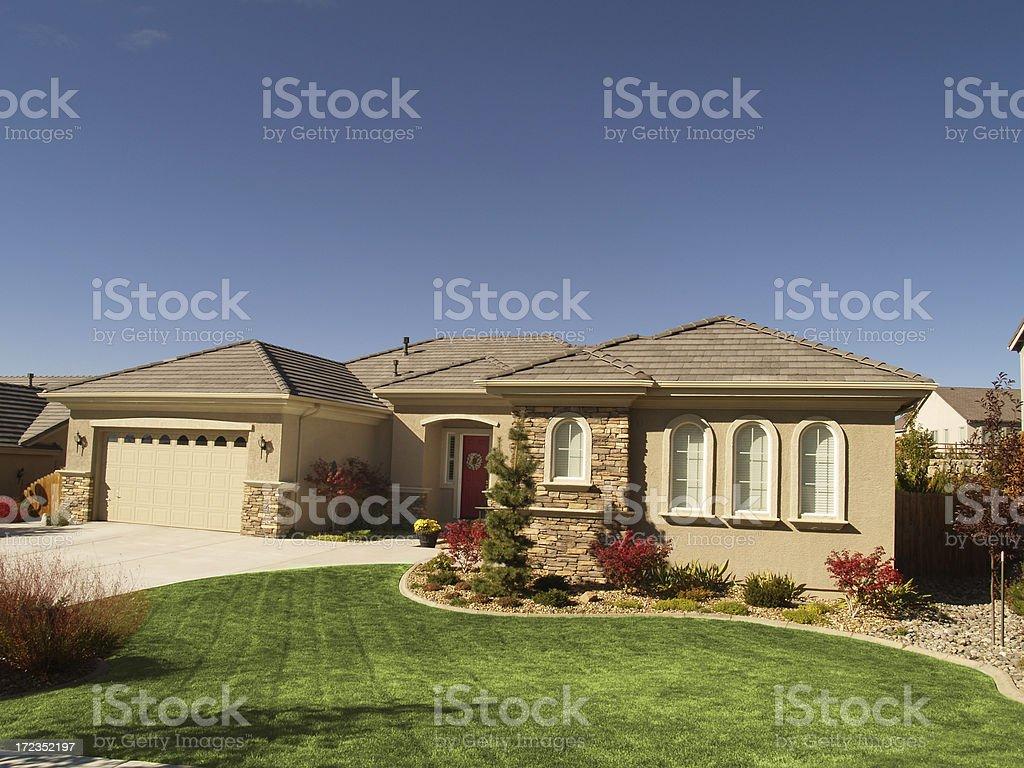 Estuco custom house foto de stock libre de derechos