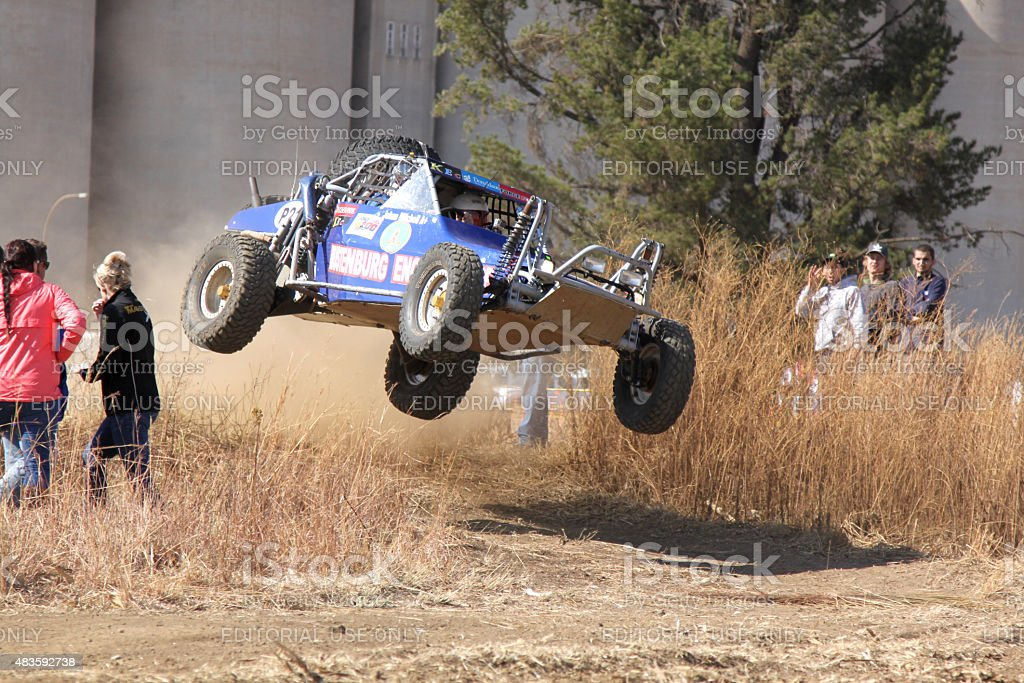 Custom Twin Seater Rally Buggy Airborne Over Bump Stock