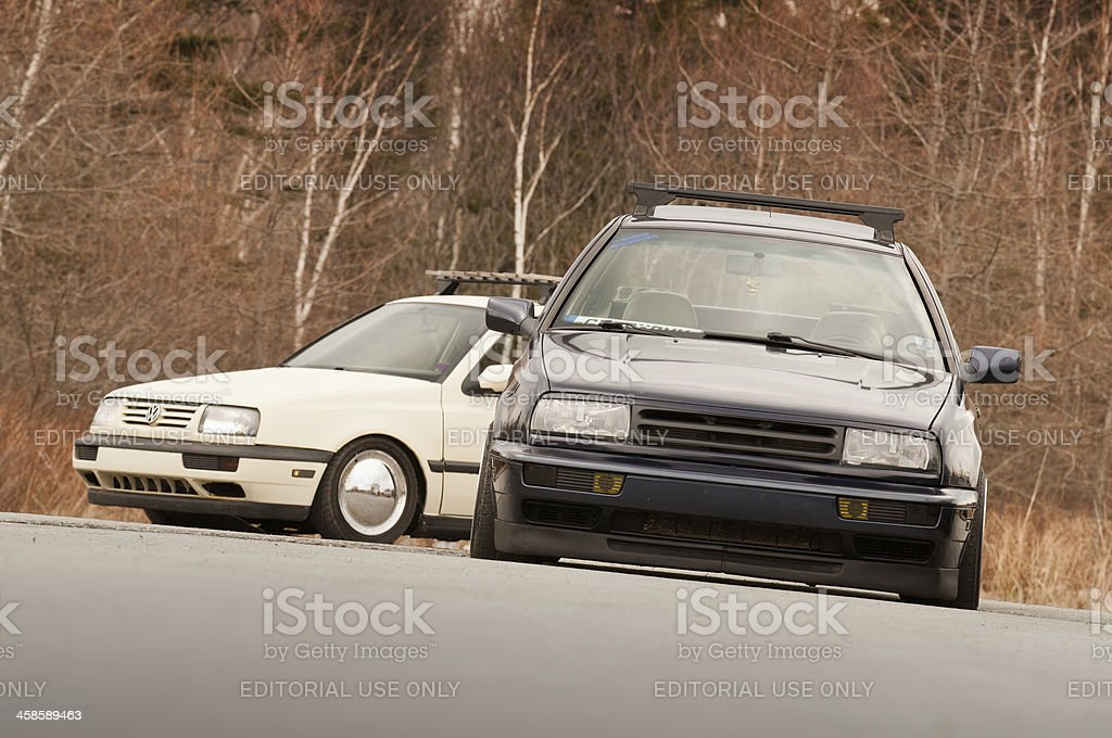 Custom Volkswagens royalty-free stock photo