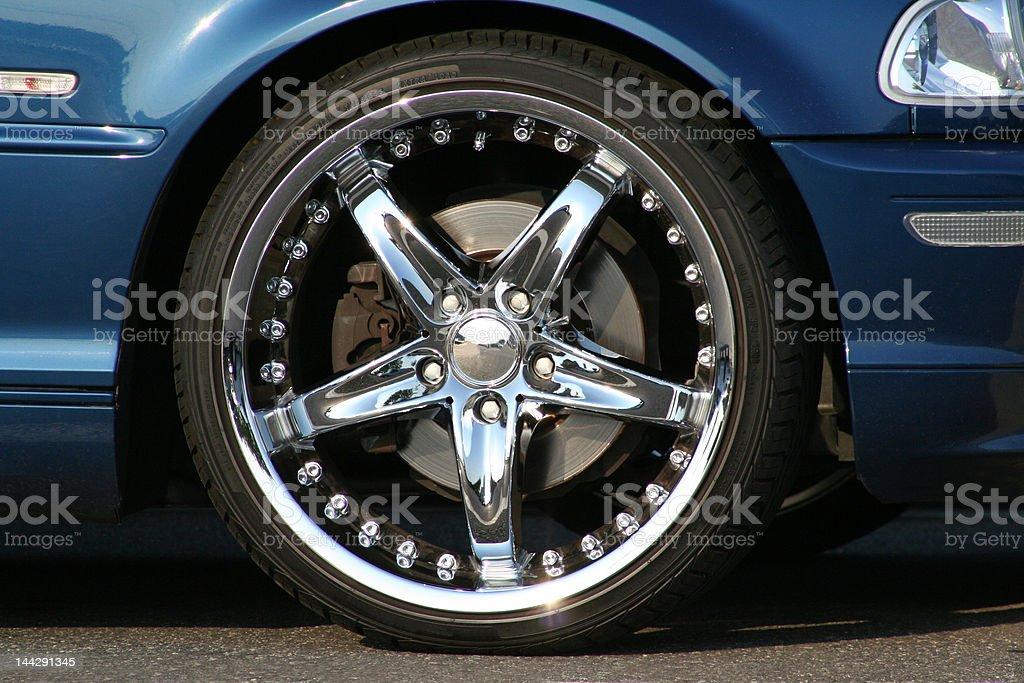 Custom wheel and tire royalty-free stock photo