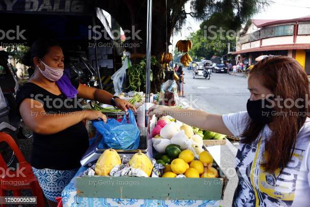 Customer buy fresh fruit and vegetable from a vendor at her makeshift picture id1250905539?b=1&k=6&m=1250905539&s=612x612&h=yhrut77xltdms inwzqabgpbxndpkbwlgwu7nn15p1s=